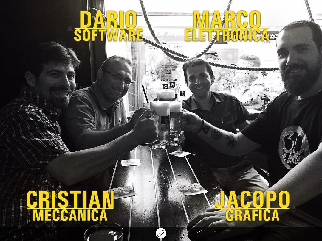 chi siamo crystal cave Jacopo Dani – Dario Concilio – Cristian Giacomuzzo – Marco Conforti